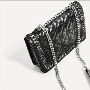 Authentic leather crossbody Zara Bag